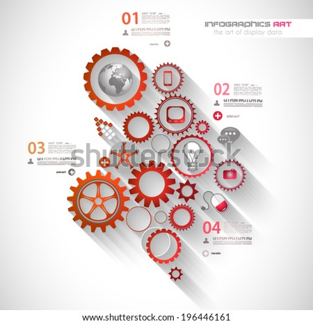 Flat UI design concepts for unique infographics, seo, web template branding. Concepts e���²ements for web banners and brochure or covers. - stock vector