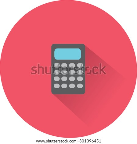 Flat Vector Calculator Icon - stock vector