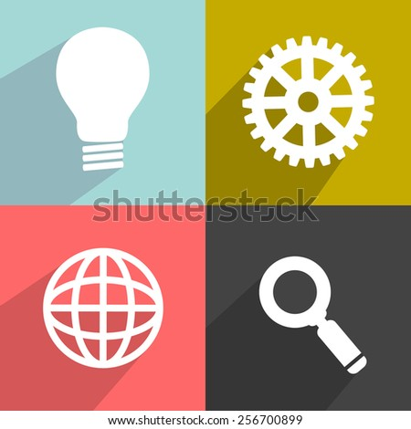 Flat vector elements for your design 1 - stock vector