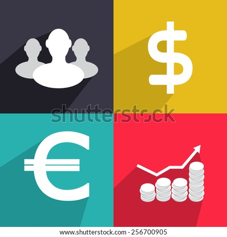 Flat vector elements for your design 4 - stock vector