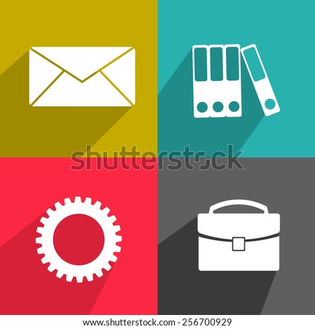 Flat vector elements for your design 2 - stock vector