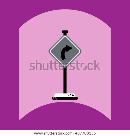 flat vector icon design collection road sign - stock vector