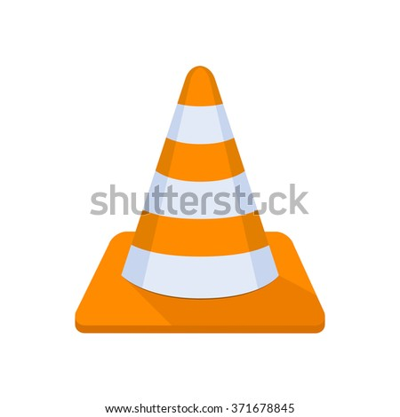 flat Vector icon - illustration of Cone icon isolated on white - stock vector