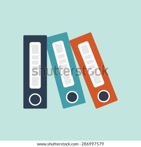 Flat vector icon of File Folders for Mobile & Computer - stock vector