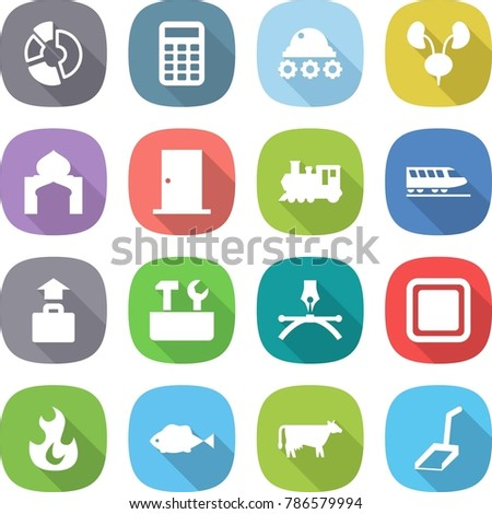 Flat vector icon set circle diagram stock vector 786579994 flat vector icon set circle diagram vector calculator lunar rover kidneys ccuart Image collections