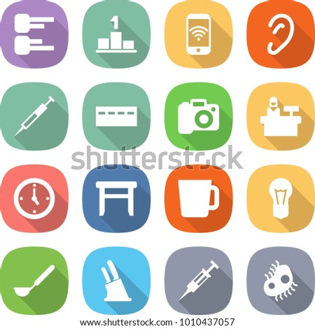 Flat vector icon set diagram vector stock vector 1010437057 flat vector icon set diagram vector pedestal phone wireless ear syringe ccuart Image collections