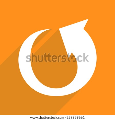 Flat vector icon with shadow and modern design arrow - stock vector