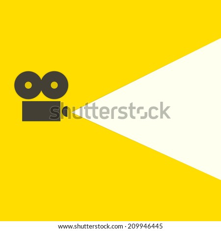 flat video projector - stock vector