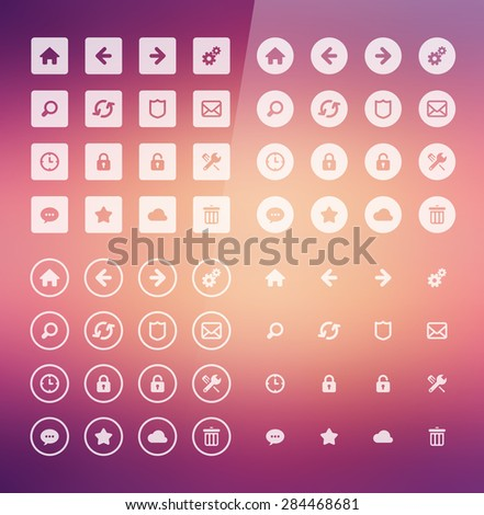Flat Web Icons - stock vector