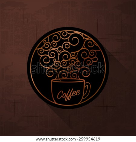 Flavored coffee sign - stock vector