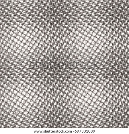 Flecked cross stitch pattern. Abstract rough fabric background. Vector design.