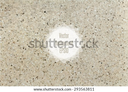 Flecked stone texture in beige and blown colors. Vector illustration EPS10. - stock vector
