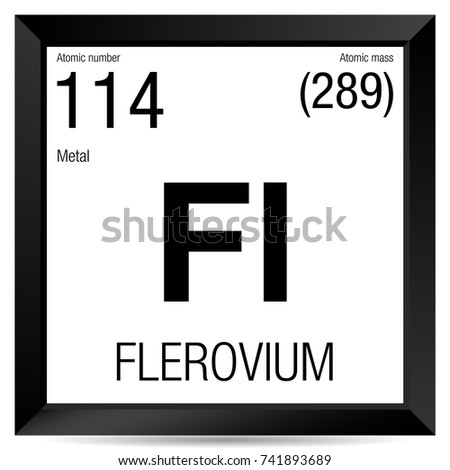 Periodic table element iron stock vector 467238662 for 114 element periodic table