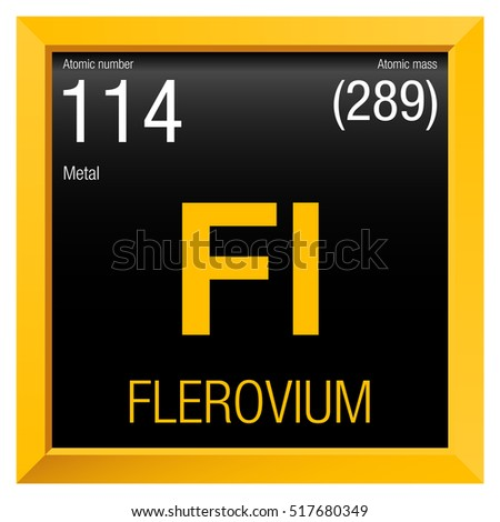 Tennessine symbol element number 117 periodic stock vector for 114 element periodic table