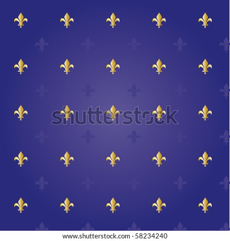 Fleur de lis royal background - stock vector
