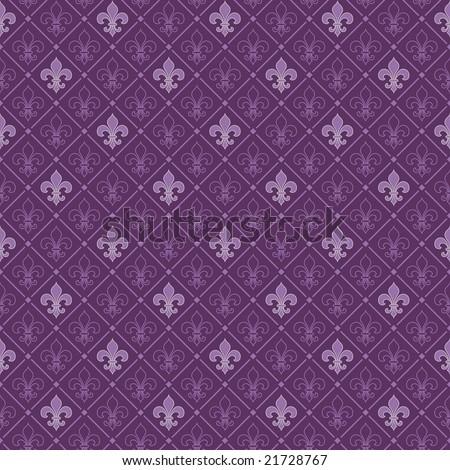 fleur de lis seamless pattern - stock vector