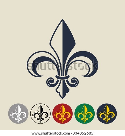 Fleur de Lis.  Vector illustration - stock vector