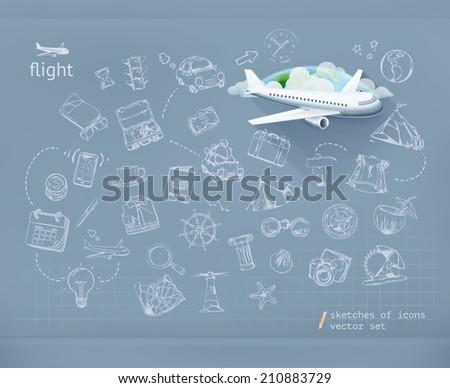 Flight, infographics vector - stock vector