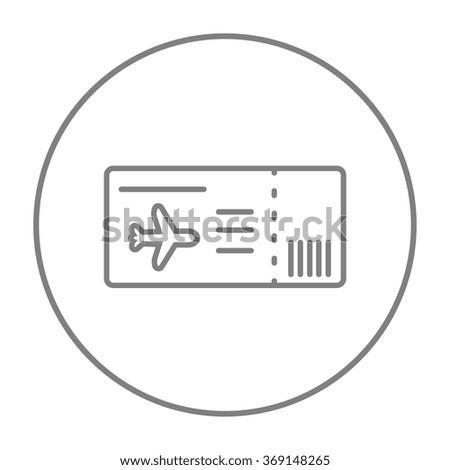 Flight ticket line icon. - stock vector
