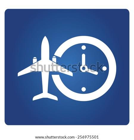 flight time information, - stock vector