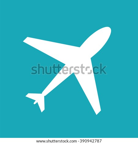 flight web icon airplane symbol plane stock vector