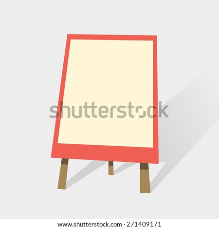 Flip chart, blank whiteboard for presentation or trainings. Vector illustration in flat style - stock vector