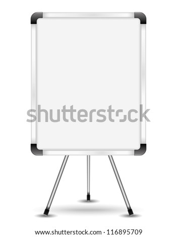 Flip chart, vector eps10 illustration - stock vector