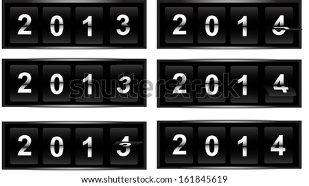 flip clock new year