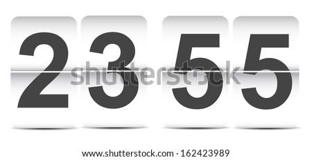 flip clock template - stock vector