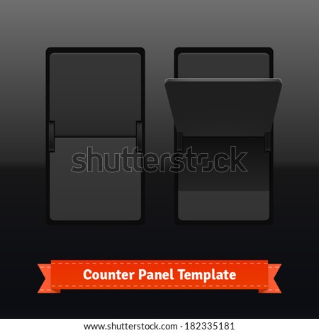 Flip counter template. Highly editable EPS10 interface elements. - stock vector