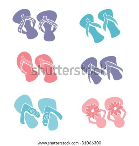 Flip-Flops - stock vector