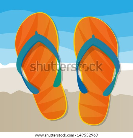 Flip Flops Pattern Background