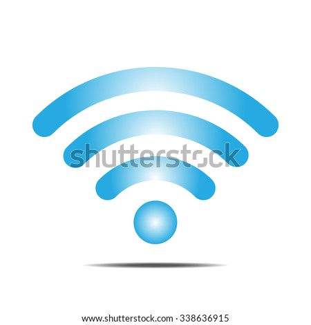 Floating blue wifi icon vector illustration