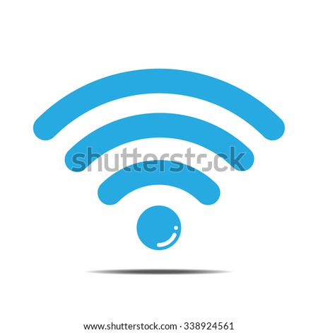 Floating blue wifi icon vector illustration - stock vector