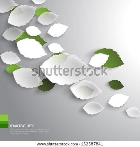 Floating Leaves Background-eps10 - stock vector