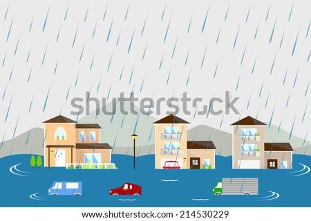 flood - stock vector