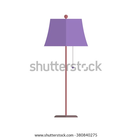 Floor lamp isolated on white background. Simple flat vector illustration, EPS 10. - stock vector
