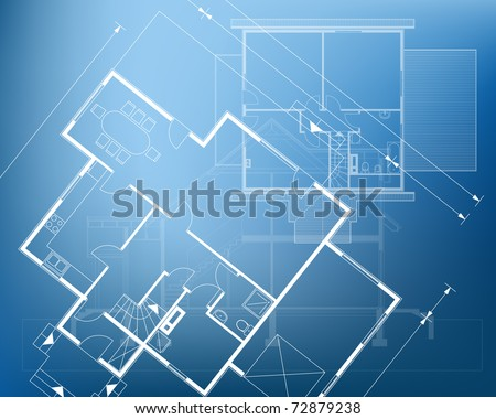 floor plan blueprint. vector illustration - stock vector