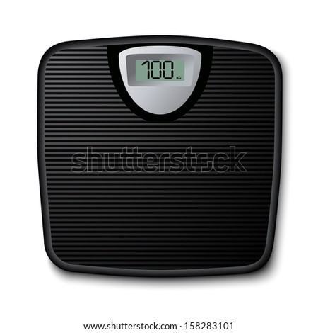 Floor scale icon  - stock vector
