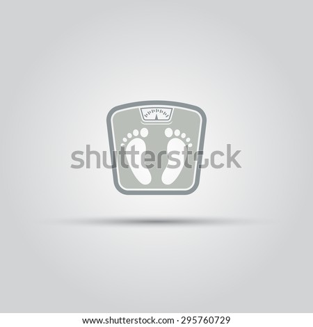 Floor scales, bathroom scales, weight measurement isolated vector icon - stock vector