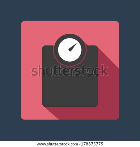 floor weight - stock vector