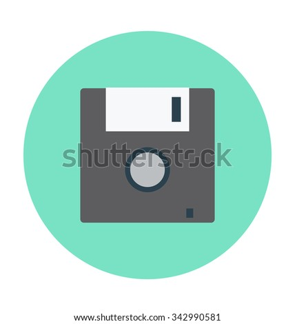 Floppy Colored Vector Illustration  - stock vector