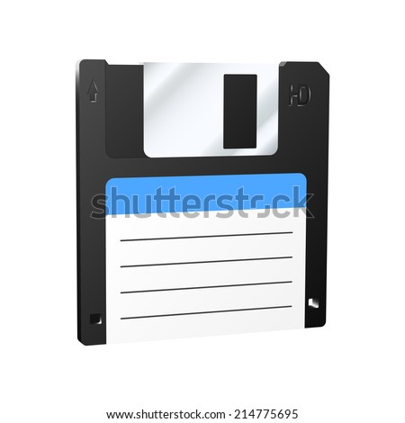 Floppy disk icon. Vector illustration. - stock vector