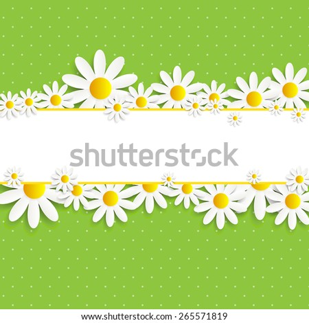 Flora Daisy Design Vector Illustration EPS10 - stock vector