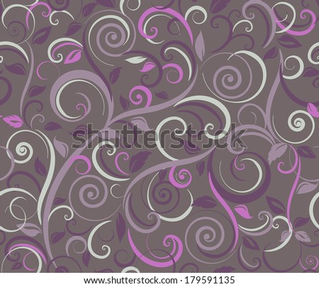 Floral abstract background, seamless. Vector illustration
