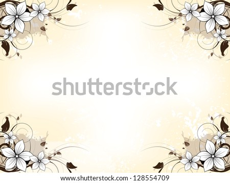 Floral abstract background with flowers - stock vector
