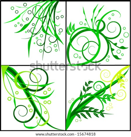 Floral abstract backgrounds-  vector illustration