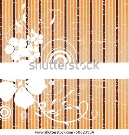 Floral abstract banner. Vector illustration - stock vector