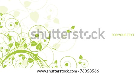 Floral abstract design element - stock vector