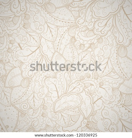 Floral abstract hand-drawn card. Vector eps10 background. - stock vector